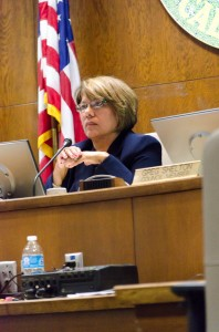 Porterville Mayor Virginia Gurrola during the June 19 Porterville City Council meeting. Photo by: Jordon Dean