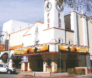 The proposed Visalia Fox marquee. Concept illustration by Wagner Electric Sign Co.