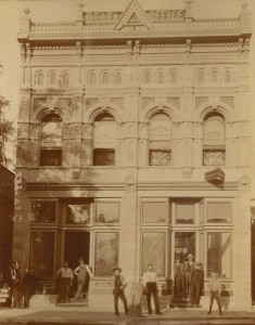 The Visalia Delta building circa 1895.