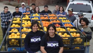 Mission Oak high school students show the fruits of their labor.