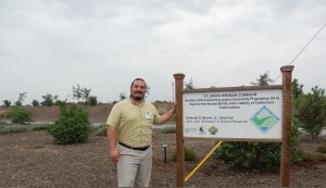 Nathan Garza at the St. John's Parkway Garden. The garden is one of four set up in the city to educate residents.