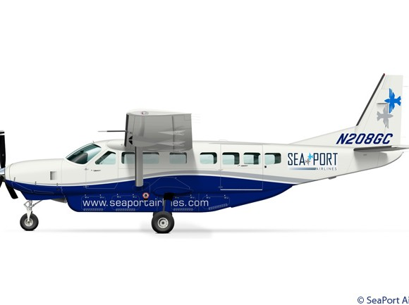 SeaPort Airlines plans to service Visalia Airport with Cessna Caravans.