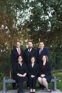 Kaweah Delta Pharmacy Team (left to right), back row: Clint Brown Pharm.D, Richard Poirier B.S, Pharm.D., James McNulty Pharm.D.; front row: Rheta Sandoval Pharm.D., Yleana Garcia Pharm.D., BCPS, and Nicole Gann Pharm.D.