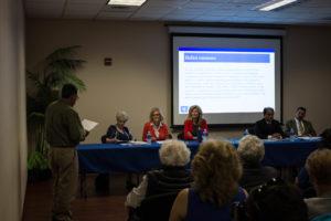 Alberto Aguilar speaking before the Tulare Local Health Care District Board of Directors. Photo/Tony Maldonado
