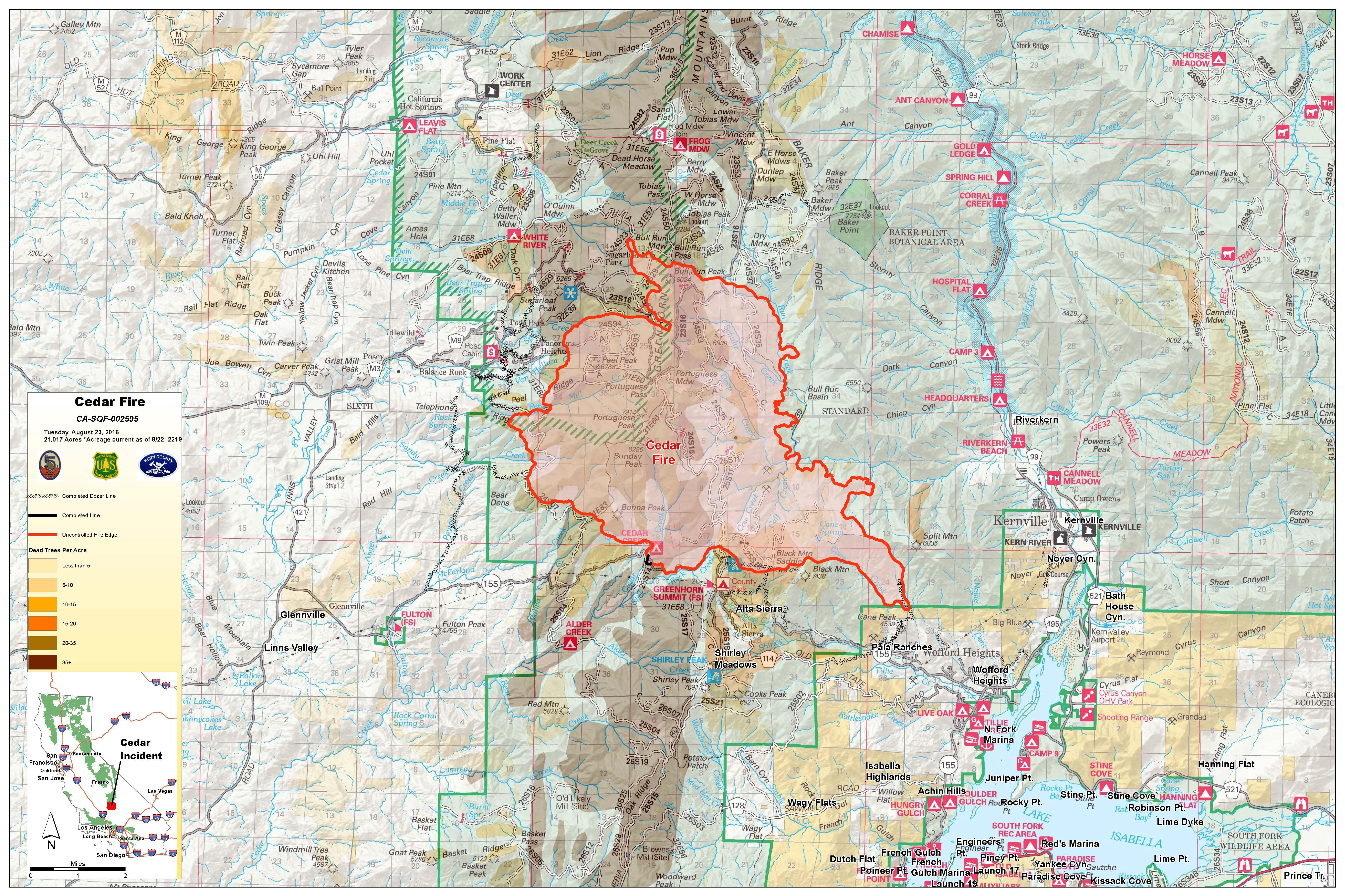 Cedar Fire Map on