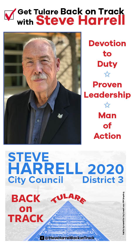 Steve Harrell for City Council advertisement